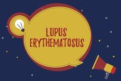 Testo Lupus Erythematosus di scrittura di parola Concetto di affari per lo stato infiammatorio causato da una malattia autoimmune illustrazione vettoriale