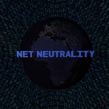 Testo netto di neutralità con terra di notte e l'illustrazione blu di codice della sfortuna Immagine Stock Libera da Diritti
