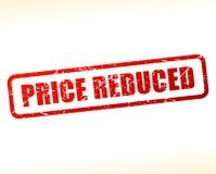 Testo riduttore prezzo attenuato illustrazione di stock