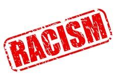 Testo rosso del bollo di razzismo Fotografia Stock Libera da Diritti