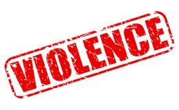 Testo rosso del bollo di violenza Immagine Stock