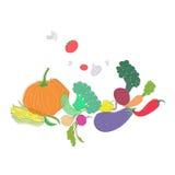 Testo sano dell'alimento delle verdure verdi Fotografia Stock