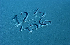 Testo 123 su un gelo Immagini Stock Libere da Diritti