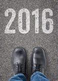 Testo sul pavimento - 2016 Immagini Stock Libere da Diritti