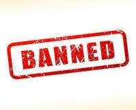 Testo vietato attenuato su fondo bianco Fotografia Stock Libera da Diritti