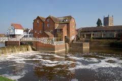 Testored pittoreska Tewkesbury - mala byggnader Arkivfoton
