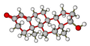 Testosterone molecular structure Royalty Free Stock Images