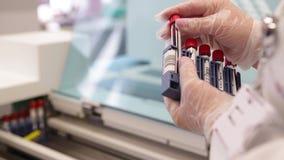 Tests im modernen medizinischen Labor II stock video