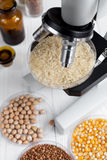 Tests for pesticides in cereal in at laboratory close up. Tests for pesticides in cereal in at laboratory no one close up Stock Photo