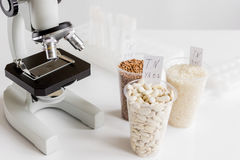 Tests for pesticides in cereal in at laboratory Stock Photo