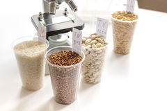 Tests for pesticides in cereal in at laboratory Royalty Free Stock Photography