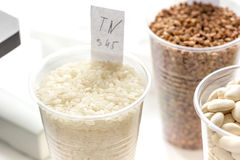 Tests for pesticides in cereal in at laboratory Stock Photos
