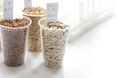 Tests for pesticides in cereal in at laboratory. No one Royalty Free Stock Images