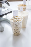 Tests for pesticides in cereal in at laboratory. No one Royalty Free Stock Image