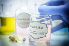 Tests for Research of Botulism Stock Photo