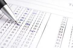 Testscore Stock Foto