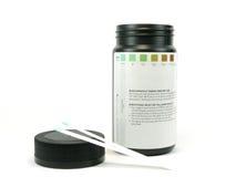 Teststrip del glucosio Fotografia Stock
