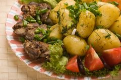 Testy dish Stock Images