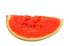 Testy lappa av vattenmelon på vit Arkivfoto