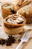 Testy Muffins and Cinnamon roll Stock Images