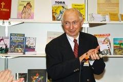 Tesu Solomovici, a book publisher on event. Teșu Solomovici  a book publisher and writer present on book festival Gaudeamus in 2013 Stock Image