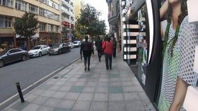 Tesvikiye大道Hyperlapse录影在Nisantasi、普遍的购物和住宅区在伊斯坦布尔 股票视频