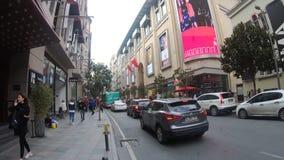 Tesvikiye大道Hyperlapse录影在Nisantasi、普遍的购物和住宅区在伊斯坦布尔 影视素材