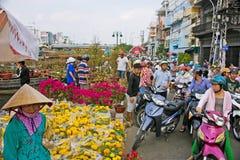 Tet-Blumenmarkt lizenzfreies stockbild