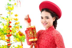 Tet girl Royalty Free Stock Images