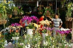 Tet op Ho Chi Minh-stad, bloemmarkt Stock Afbeelding