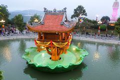 Tet in Vietnam 2019 -Ba Vang Pagoda royalty free stock images