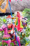 Tet in Vietnam 2019 -water puppet. To return home to pay thanks to ancestors after achieving academic honours stock photos