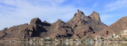 Tetakawi山一个风景看法在兰乔圣卡洛斯, Sono上的 库存图片