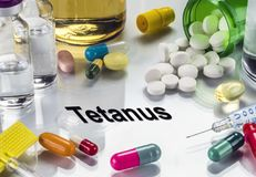 Tetanus, Medicines As Concept Of Ordinary Treatment, Conceptual Image Royalty Free Stock Image