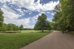 Tete d de jardin ou ` de Parc de la Tete d ou à Lyon, France jardin appelé par la tête d'or pour le tresor Parc de la tête d'or à Image stock