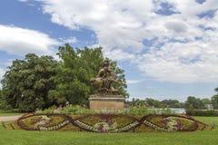 Tete d de jardin ou ` de Parc de la Tete d ou à Lyon, France jardin appelé par la tête d'or pour le tresor Parc de la tête d'or à Photos libres de droits