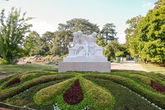 Tete d`or park in Lyon Royalty Free Stock Images