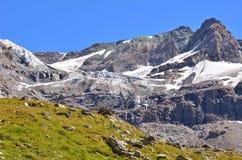 Tete de By grande e ghiacciaio di Sonadon Fotografie Stock