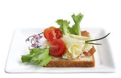 Tete de Moine Rosettes och rostat bröd Royaltyfri Bild