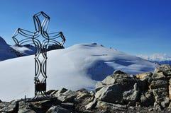 Tete DE Valpelline en het Kruis van het Ijzer Stock Fotografie