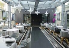 Tetedoie restaurant modern internal decoration in Lyon Stock Photo