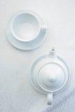 Tetera con la taza Foto de archivo