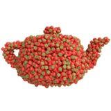 Tetera de fresas Imagen de archivo libre de regalías