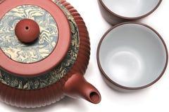 Tetera de Japón con dos tazas Foto de archivo