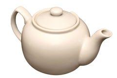 Tetera de la porcelana para el té aislado fotografía de archivo