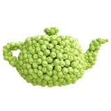 Tetera de manzanas verdes Imagen de archivo libre de regalías