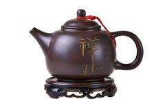 Tetera del chino de la arcilla. imágenes de archivo libres de regalías