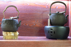 Tetera del hierro Fotografía de archivo libre de regalías