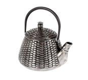 Tetera del metal para el té Imágenes de archivo libres de regalías