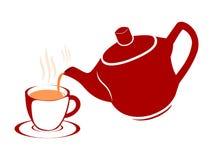 Tetera y taza Imagen de archivo